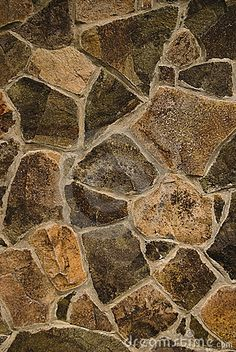 Texture of stone wall, close up. Handmade.