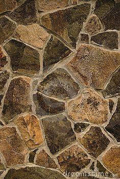 Texture of stone wall, close up. Handmade.