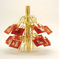 """Asian Centerpiece & Dangler by US Toy Company. $9.99. Decorate a party or festive event with this Asian centerpiece and dangler.  Includes removable table stand and loop thread for easy hanging.  Must have for your party decorations.  Made of Mylar (R).  Size 15-1/2 T.   U.S. Toy Exclusive!  For decorative use only."""""""