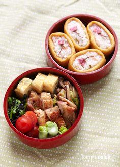 Japanese Bento Boxed Lunch 桜稲荷弁当