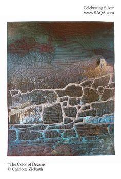 Art quilt by Charlotte Ziebarth #artquilts #SAQA #fiberart #art #exhibits