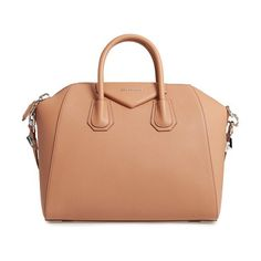 'medium antigona' sugar leather satchel by Givenchy. Beloved by street-style mavens and well-polished women the world over, Givenchy's Antigona satchel is done here in ri...