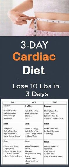 3-Day Cardiac Diet: Lose 10 Pounds in 3 Days – Women'z Fitness - #3Day #Ca... #RawEggDiet Quick Weight Loss Tips, Weight Loss Help, Diet Plans To Lose Weight, How To Lose Weight Fast, Losing Weight, Reduce Weight, Weight Gain, Lose 15 Pounds, Losing 10 Pounds
