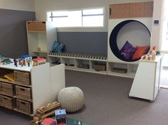 TopKids Karaka is a modern centre that caters for children aged from 3 months right through until they are ready to start school. We have three beautiful, custom-built environments designed to support the learning and development of specific age groups. Environment Design, Built Environment, Cozy Place, Beautiful Space, Spaces, Bed, Modern, Furniture, Home Decor