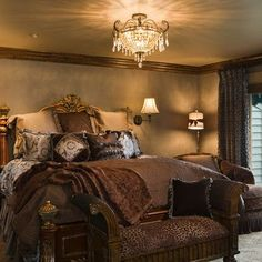 Love the chocolate coloured decor. It's gorgeous, gaudy and has a royal touch - a combination which simply makes a room chic.