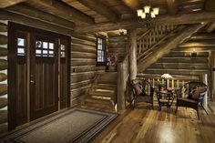This couple's log-home dream may not have started with timber, but it was clearly inspired by the woods—45 lush acres near Virginia's Shenandoah National Park, to be exact.