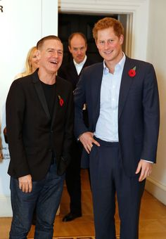 Prince Harry joined Bryan Adams at a preview of the musician-turned-photographer's exhibition in London.