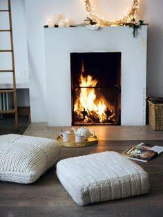 Вязаные изделия в интерьере: готовим дом к зиме | Colors.life