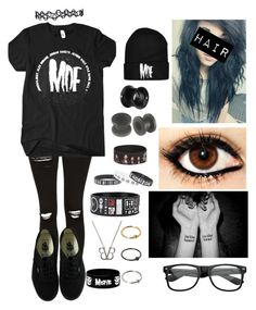 """MDE"" by islandformisfits ❤ liked on Polyvore featuring Topshop, Vans, emo, Punk and MDE"