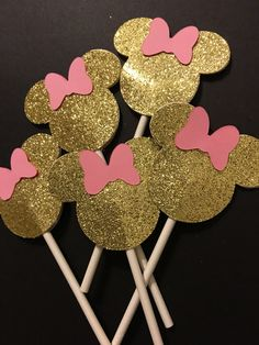 Minnie Mouse Picks (Set Of 24) You Choose Your Colors by CustomPartyCompany on Etsy