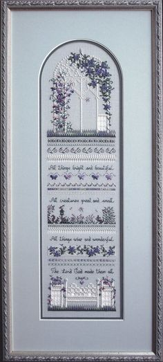 Sweet Pea Gazebo - Victoria Sampler ~ I would so love the pattern, could anyone oblige?