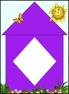 home shapes matching activity Cute Powerpoint Templates, English Classroom Decor, Mathematics Geometry, Sudoku, Teaching Shapes, Shape Games, Preschool Colors, School Frame, Instagram Prints