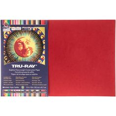"""12"""" x 18"""" Holiday Red Tru-Ray Sulphite Construction Paper"""