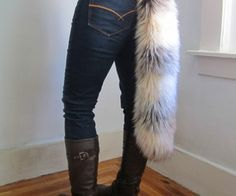 faux fur tail-- I think I want to have another go at 'wolf' this halloween!