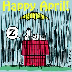 """(""""Snoopy Happy April hello april april quotes welcome april hello april quotes hello april images welcome april quotes first day of april quotes. Snoopy Love, Snoopy And Woodstock, Peanuts Cartoon, Peanuts Snoopy, Peanuts Characters, Cartoon Characters, April Images, Happpy Birthday, April April"""