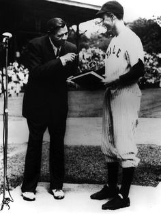 While captain of Yale's baseball team, George H.W. Bush met and posed for a photo with Babe Ruth. It was just a few months before the Bambin...