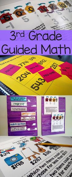 Guided Math for Third Grade Aligned to Common Core Lesson plans and activities