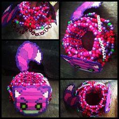 Cheshire Cat Cuff - ORIGINAL IDEA by SzophiaLeigh - Kandi Photos on Kandi Patterns