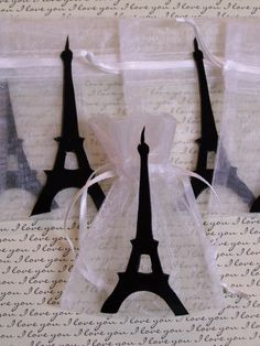 Eiffel Tower party Favor bags 10 pieces on Etsy, $11.00