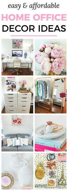 Easy & affordable home office decor ideas | Cute blogger home office tour with white and gold details + 3 easy DIY home decor projects feat Devine Color at Target products from Orlando, Florida lifestyle blogger Ashley Brooke Nicholas #DevineTargetStyle #ad @devinecolor @target | white pineapple jars, sparkly gold picture frame, cute blogger office, blogger office, white office, gold office, gold jewelry tray, acrylic makeup organizer, pink peonies, affordable home decor, affordable DIY..