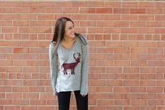 Wool Felted Reindeer Sweater One Little Minute Blog Rad DIY Wool Felted Reindeer Sweater