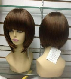 USJF951 short brown straight bob hair wigs for women wig  Unbranded  Wig  Short Brown 4b1b7e9038