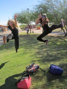 Ninja jump pose. That's legit. :D