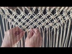 How to do macrame knots - Forming a V with square knots - YouTube
