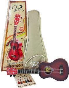 Pukanala Rosette PK-HBS – Ukelele soprano color rojo -  http://tienda.casuarios.com/pukanala-rosette-pk-hbs-ukelele-soprano-color-rojo-incluye-funda/