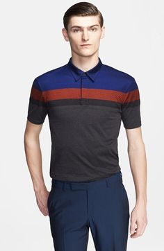Z Zegna Colorblock Polo Color Blocking, Men Dress, Casual Outfits, Polo Ralph Lauren, Tee Shirts, Menswear, Mens Fashion, Man Style, Tennis