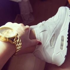 Nike Airmax's, white, good watch