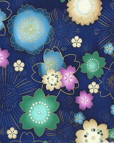 Satsuki 3 - Cherry Blossom Burst - Navy Blue/Gold