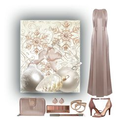 """charity ball"" by art-gives-me-life ❤ liked on Polyvore featuring Jessica Choay, John Lewis, Vince Camuto, FOSSIL, Clarins, Urban Decay, Kipling, contestentry and humanesociety"