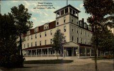 Conneaut Lake PA Hotel Virginia Exposition Park  1910
