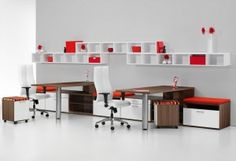 Vision from JSI mixes clean aesthetics with a variety of materials for a series that screams great modern design. The series facilitates many possibilities, for any industry or organization: private office, collaborative, reception, conference and more.