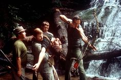 Ned Beatty, Jon Voight, Ronny Cox, Bill McKinney and Burt Reynolds in Deliverance (1972)