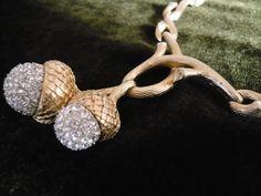 Vintage Trifari Acorn Necklace. sold for $ 85.00, via Etsy.