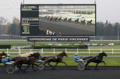 France. Paris. Vincennes. Horses race.