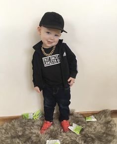 Our graphic tees look so cute on your kids! Toddler Boy Fashion, Toddler Outfits, Baby Boy Outfits, Kids Outfits, Kids Fashion, Gangster Rap, Baby Shop, Graphic Tees, Small Shops