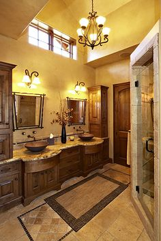 Master Bathroom,I love this look. Maybe when we are ready to remodel lots of years from now