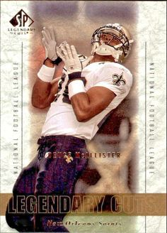 2002 SP Legendary Cuts #77 Deuce McAllister Team: New Orleans Saints