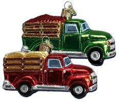 Farm Truck | Old World Christmas Glass Ornaments