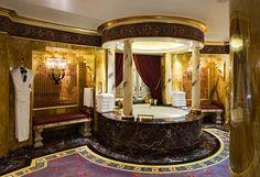30 Best Room Pictures of the Week – June to June 2012 Bathroom in Burj Al Arab in Dubai – The Fab Web Tuscan Bathroom Decor, Gold Bathroom, Bathroom Styling, Royal Bathroom, Bathrooms Decor, Bathroom Renovations, Bathroom Faucets, Moroccan Bathroom, Stone Bathroom