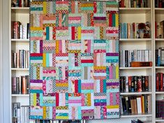 On my list of quilts-I've-never-made-but-probably-should sat the rail fence quilt. How'd I go almost six years without making one of these...
