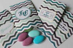 20 sacchetti confetti chevron Matrimonio Anniversario di PickaPack