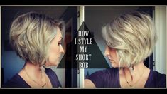 How to Style a Short Bob!   Textured & Voluminous Hair   Summer Whitfield - YouTube