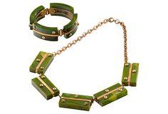 Deco Bakelite Necklace & Bracelet set