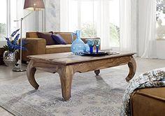 braun hell Palisander Massivmöbel Couchtisch 130x75 Holz massiv Massivholz Sheesham Opium #632