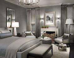 Contemporary Grey Bedroom