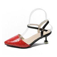 2017 Острый Мед Каблуки Женщин Обувь Женщины Насосы Пряжка Ремень Женская Обувь Женская Насосы Zapatillas Mujer Chaussure Femme Schoenen